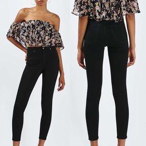 TopShop Jamie Black High Rise Skinny Jeans